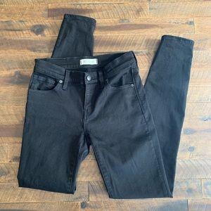 "MADEWELL 8"" skinny black jeans"